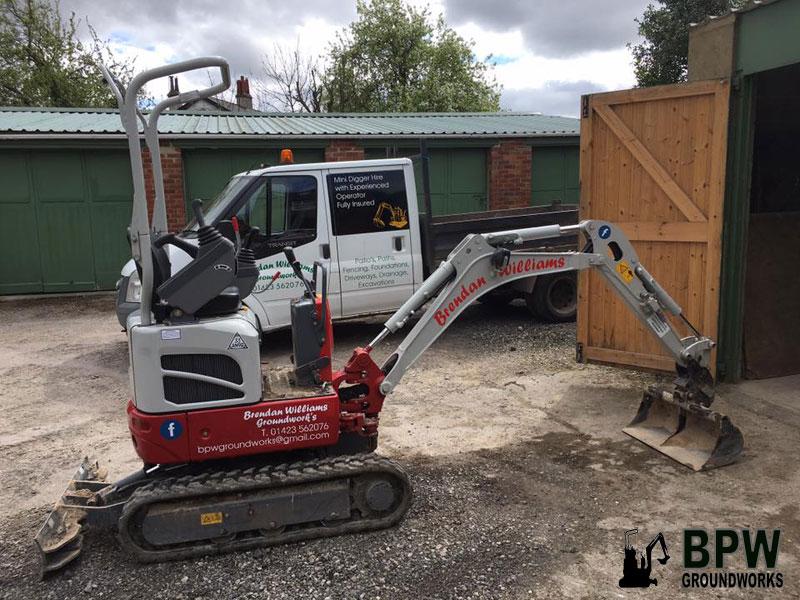 BPW new micro excavator